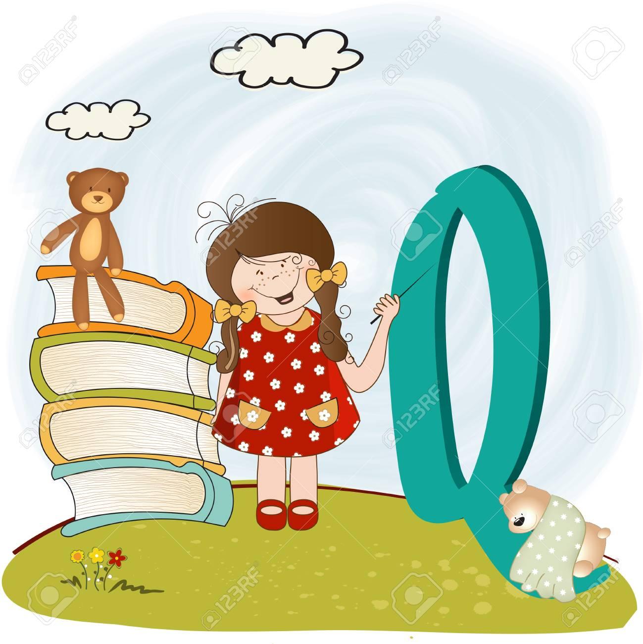 children alphabet letters Stock Vector - 9934459