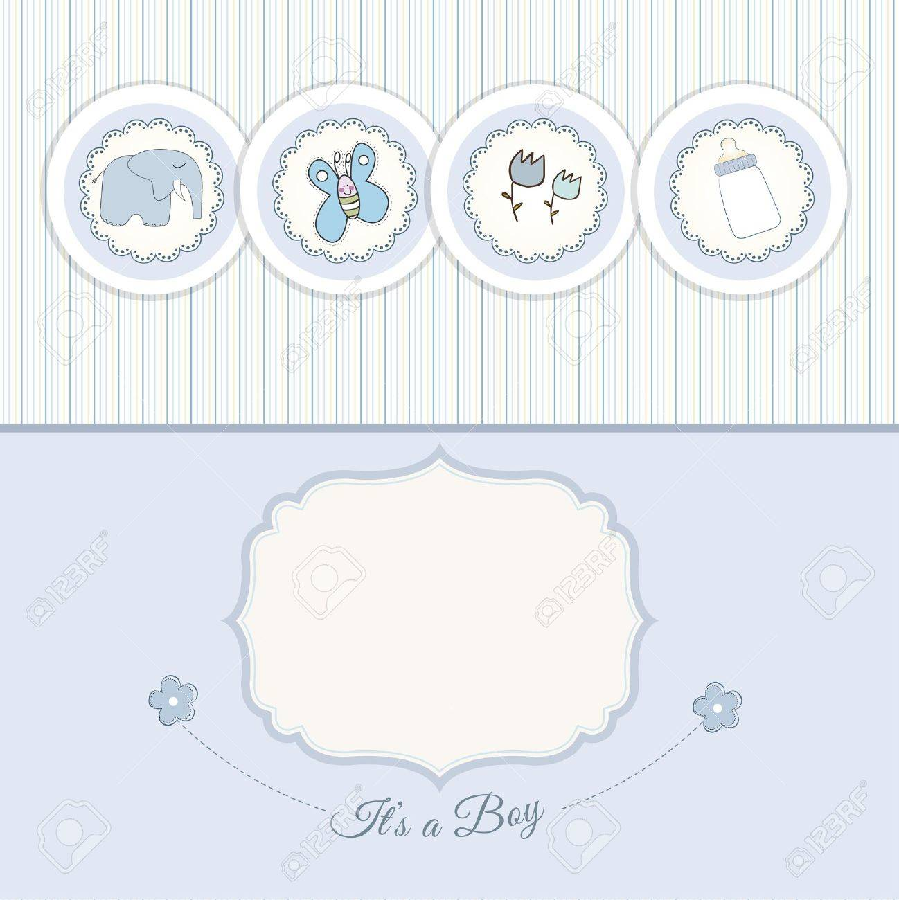 new baby announcement card Stock Vector - 10586804