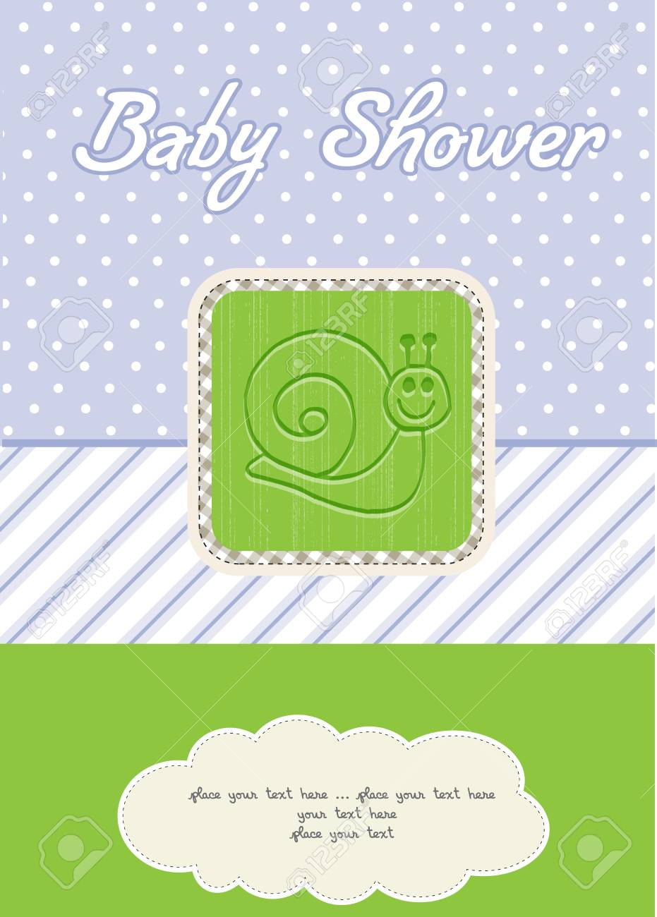 baby boy shower card Stock Vector - 10586921