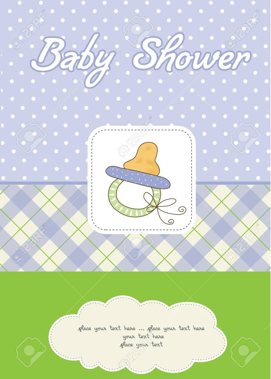 baby boy shower card Stock Vector - 10586880