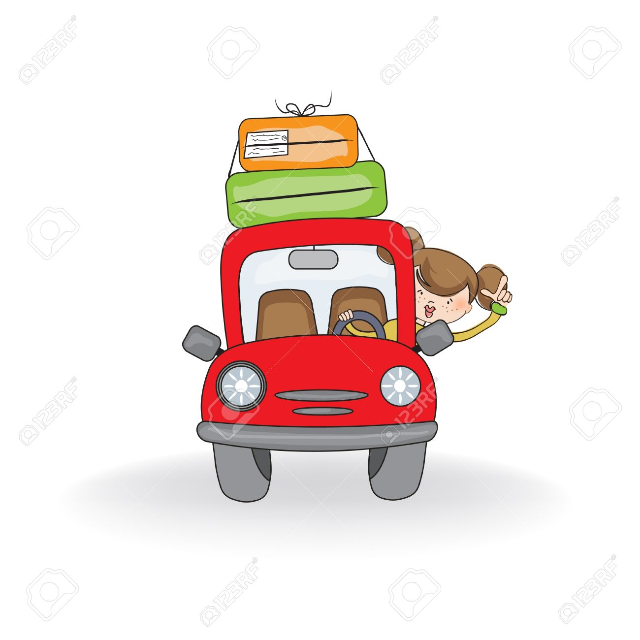 Woman Traveling By Car Royalty Free Cliparts Vectors And Stock Rh 123rf Com