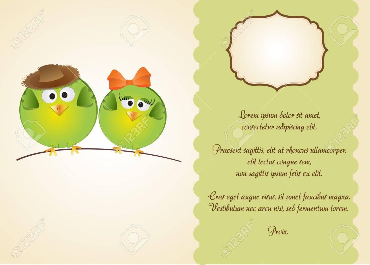 birds in love Stock Vector - 11154329