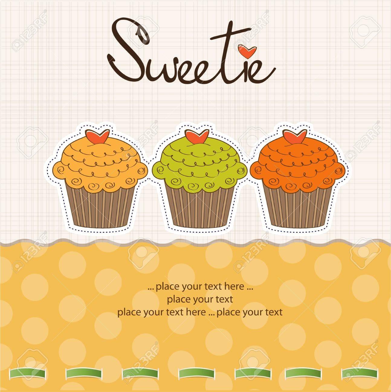 Happy Birthday cupcakes Stock Vector - 11022578