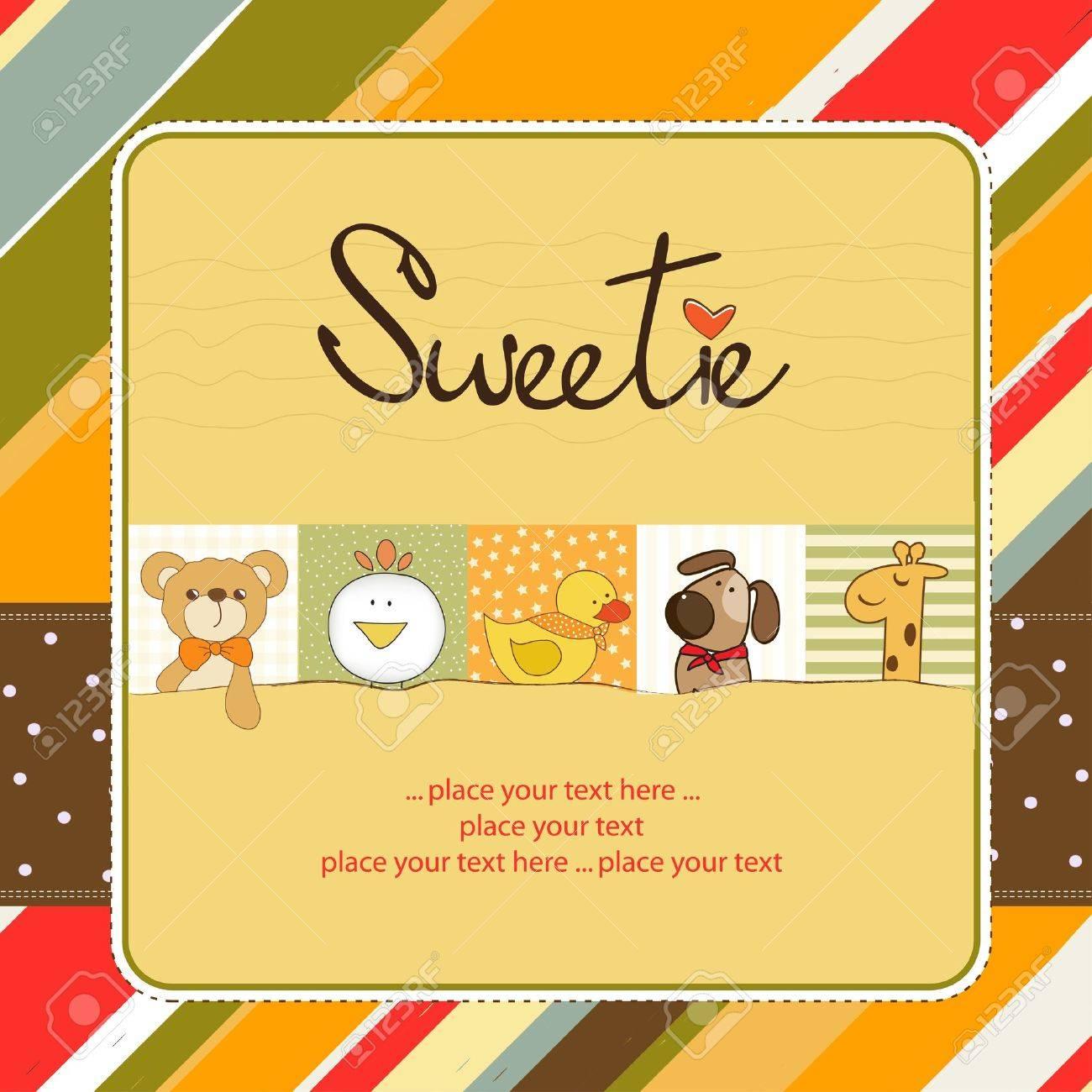 sweetie greeting card Stock Vector - 11154343