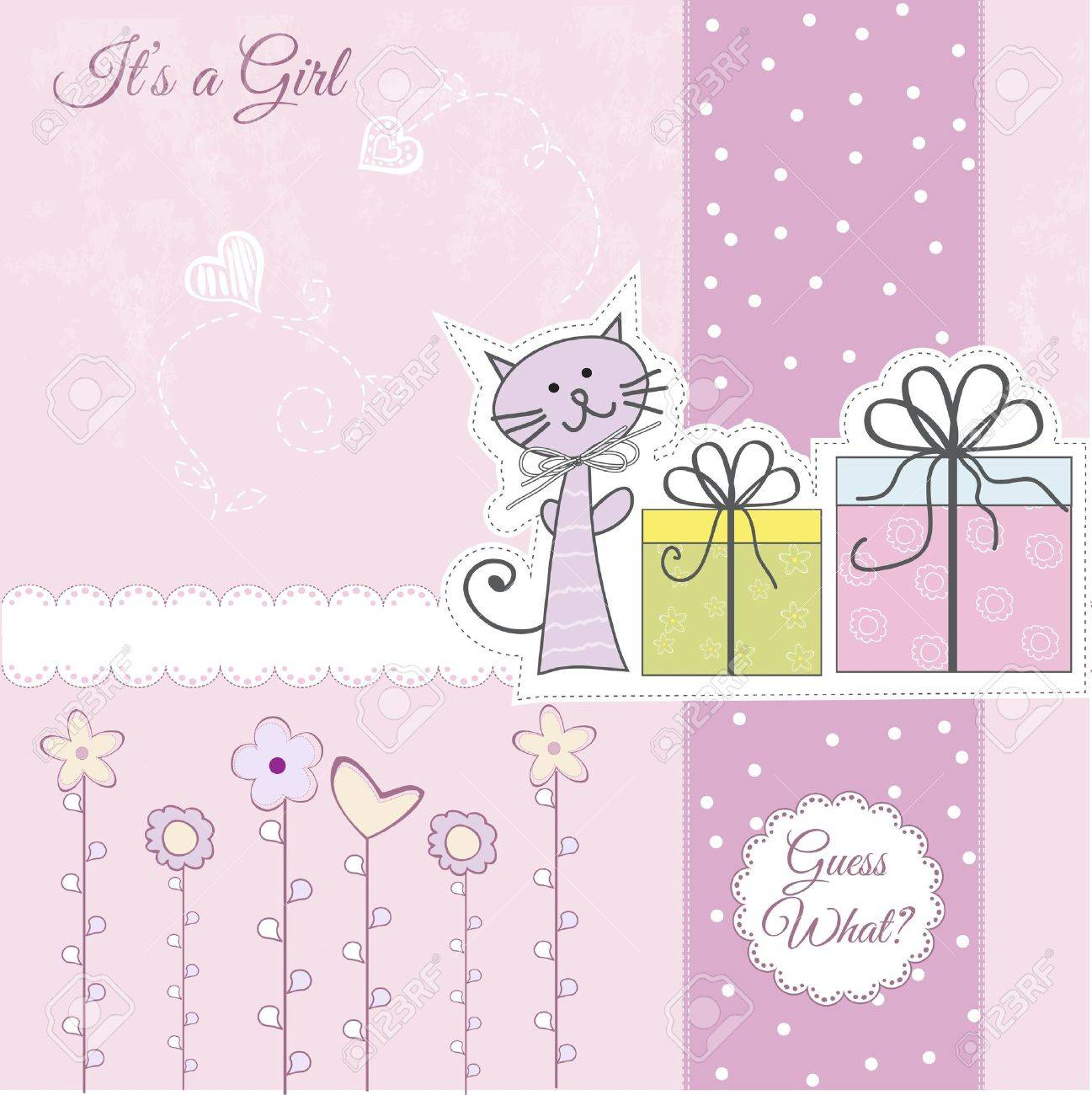 New Baby Announcement Card Royalty Free Cliparts Vectors And – Baby Announcement Cards Free