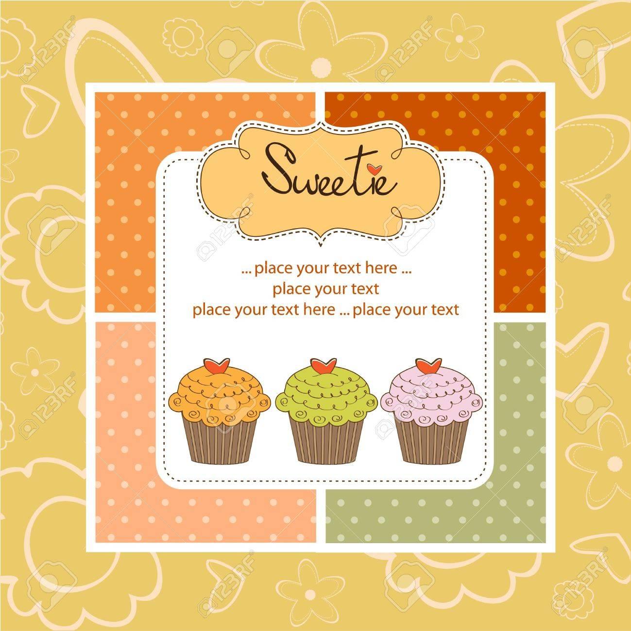 Happy birthday cupcakes Stock Vector - 11022209