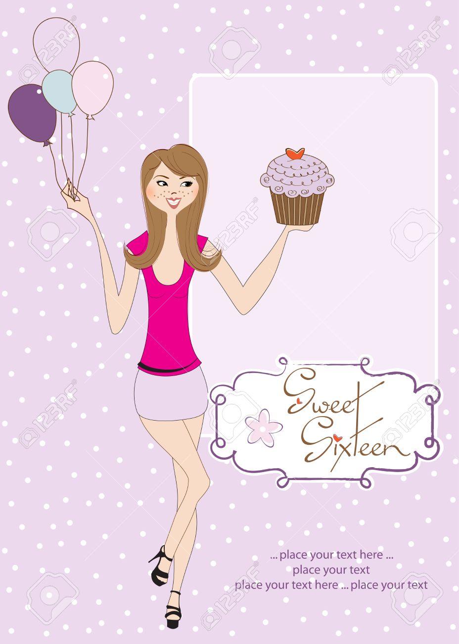 Sweet Sixteen Birthday Cards gangcraftnet – Sweet Sixteen Birthday Greetings