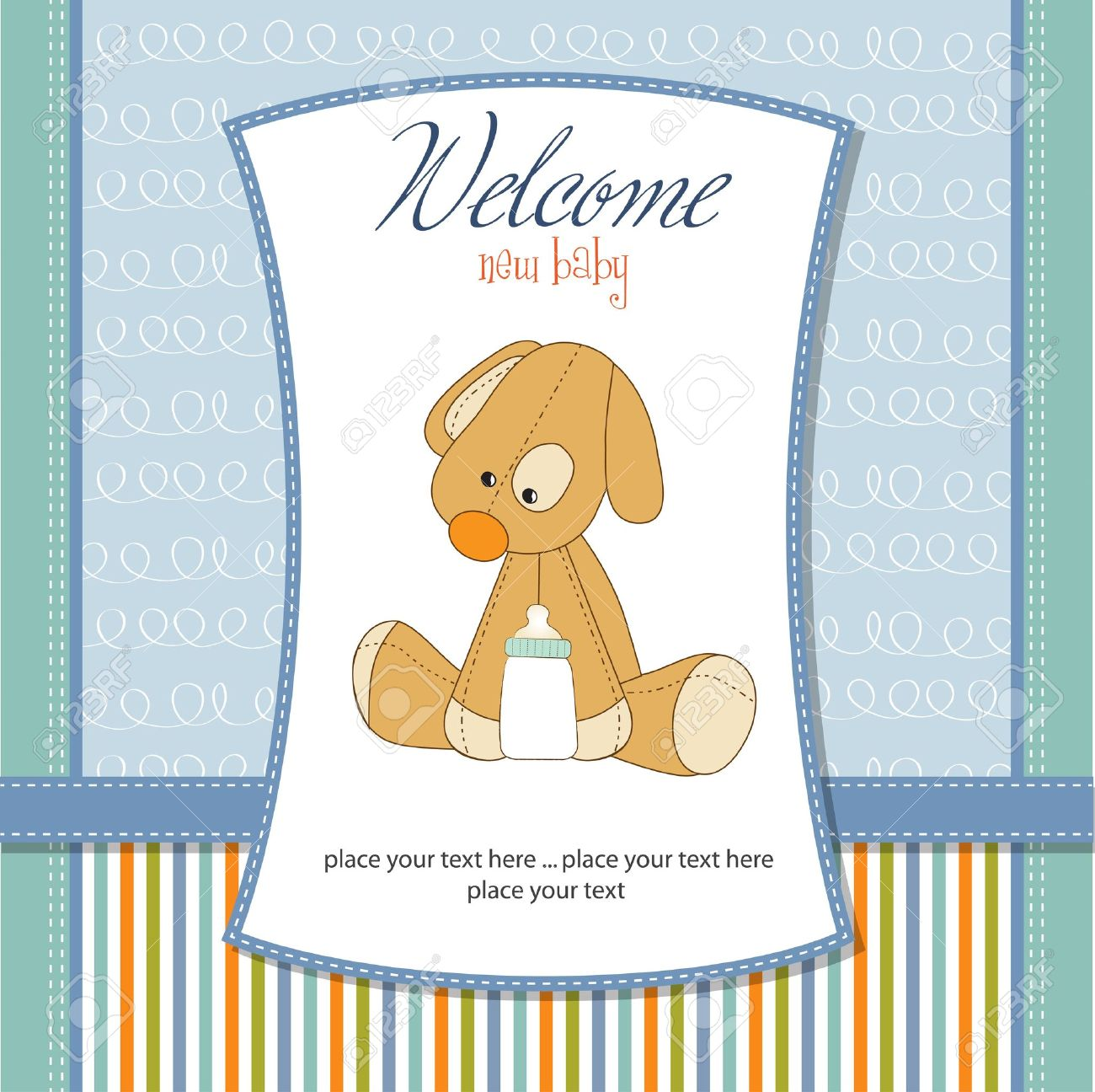 welcome new baby boy Stock Vector - 11132197