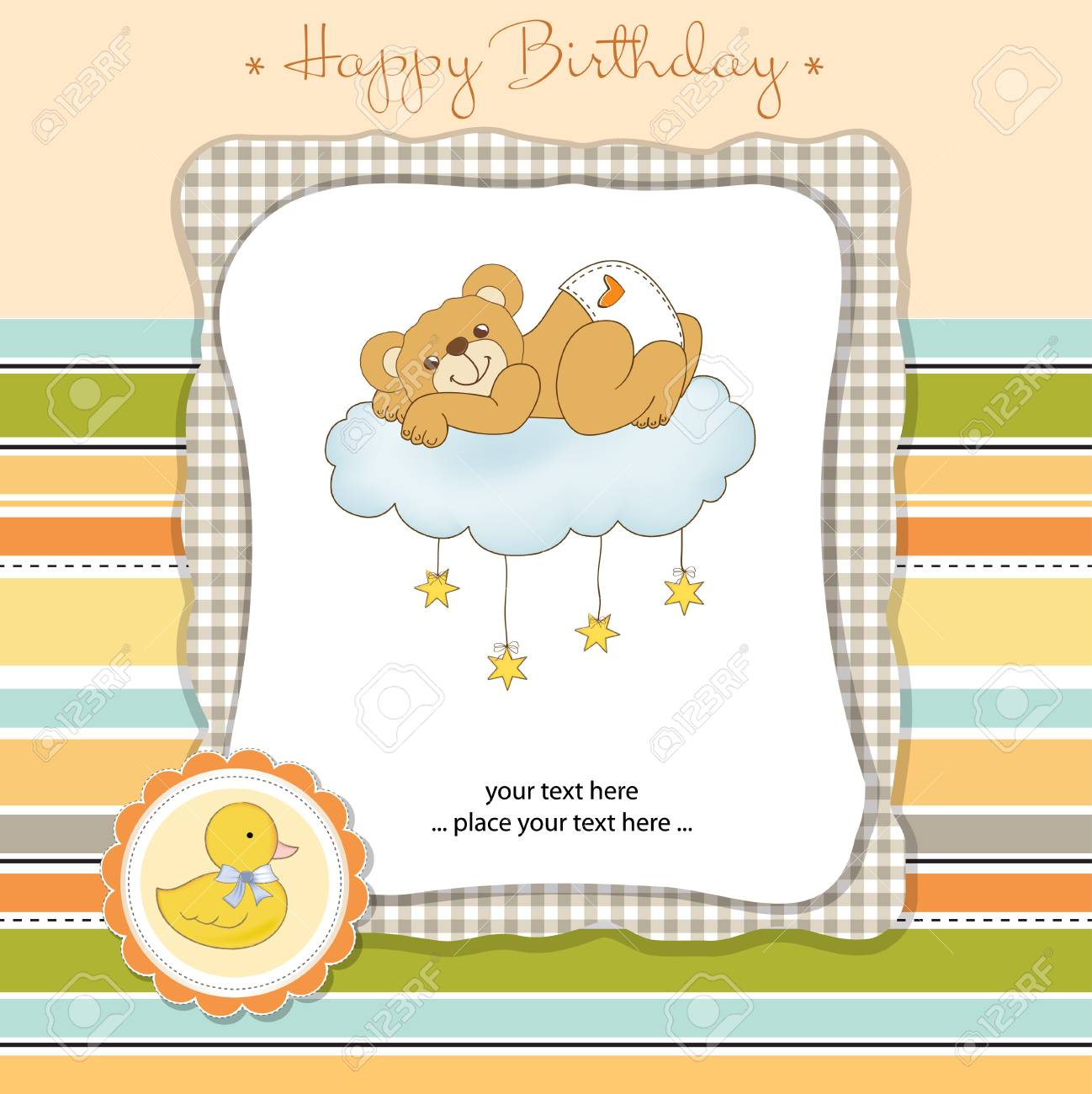 happy birthday card Stock Vector - 11023205