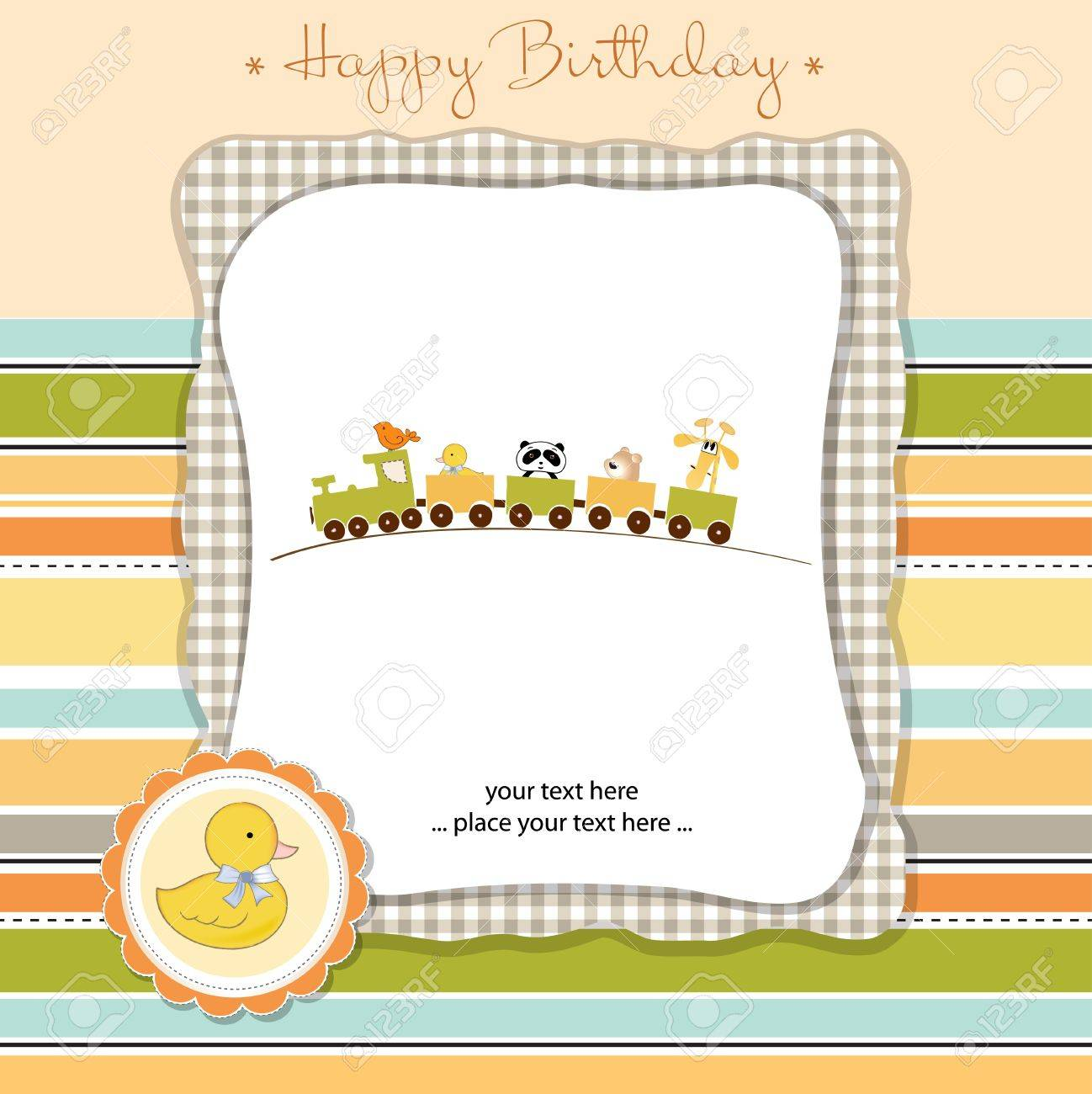 happy birthday card Stock Vector - 11023215