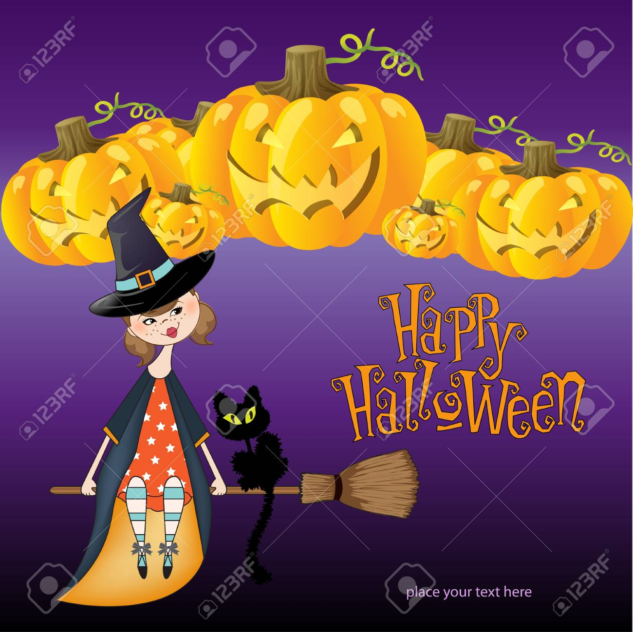 Halloween witch background Stock Vector - 11023265
