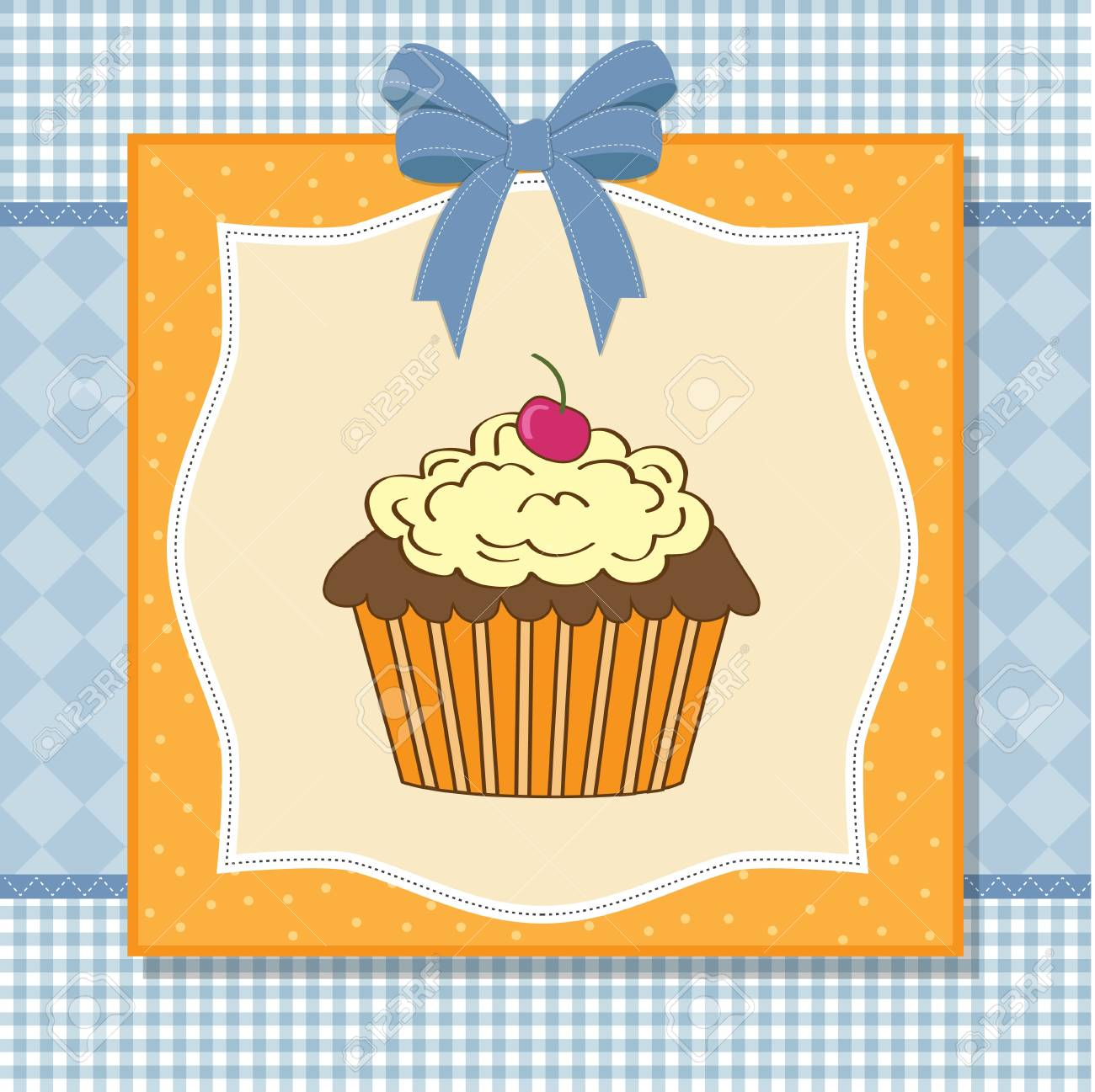 Birthday cupcake Stock Vector - 11358672