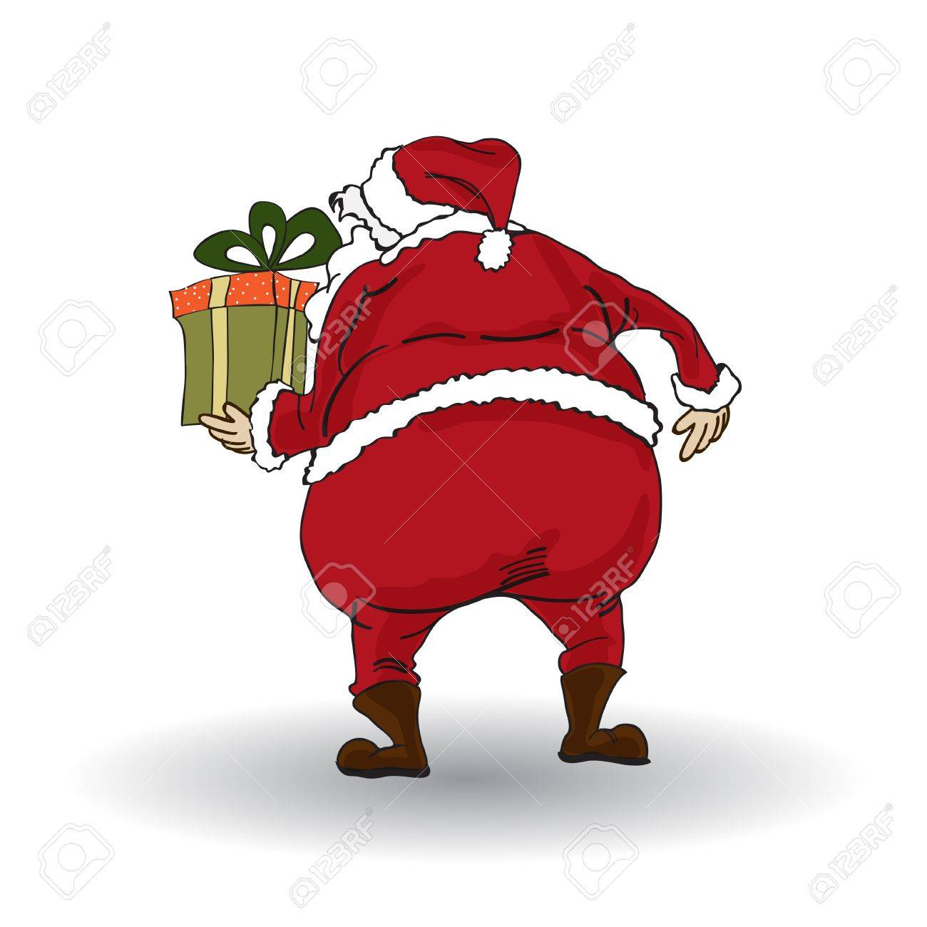 Santa isolated on white backgound Stock Vector - 11358319