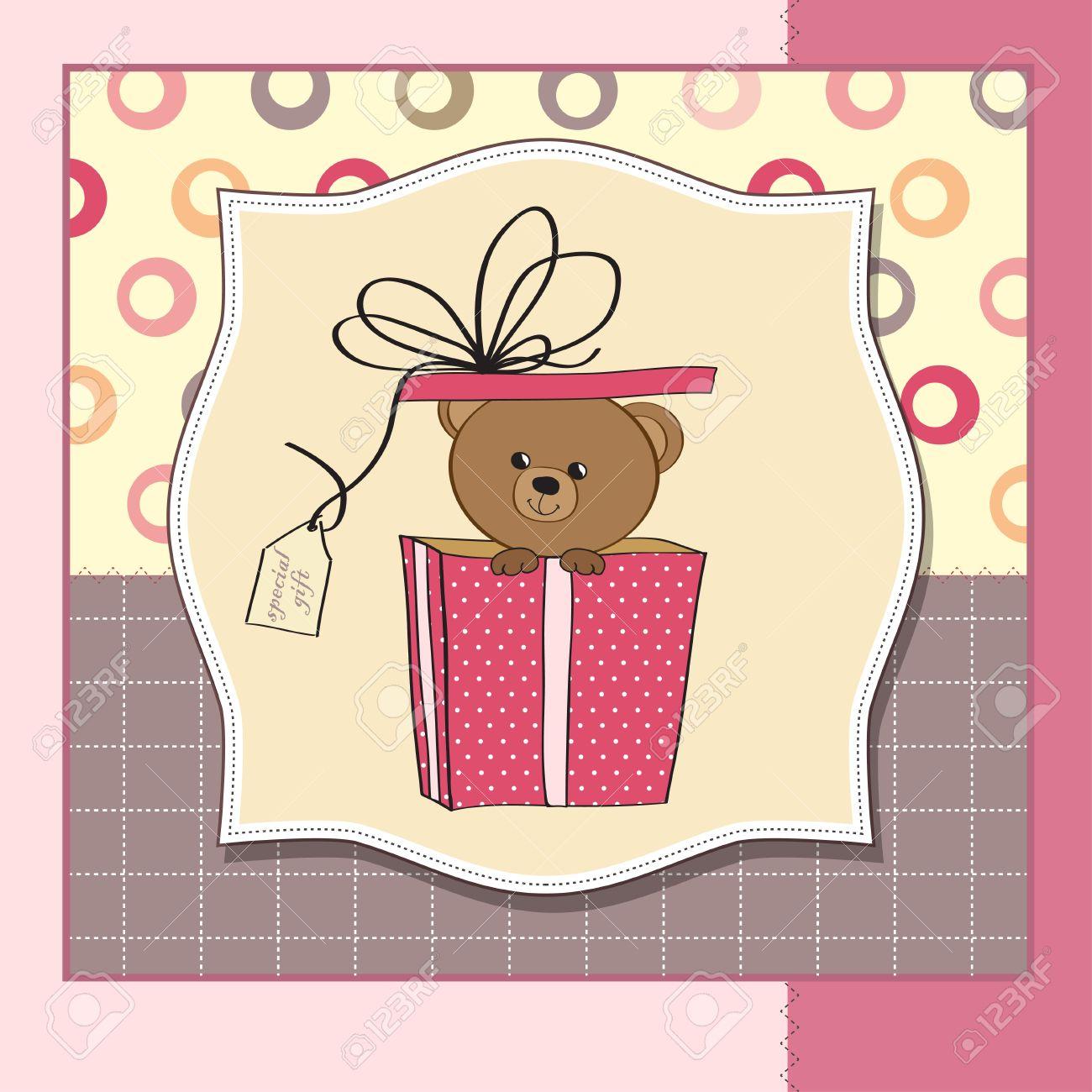 Birthday Greeting Card With Teddy Bear Royalty Free Cliparts – Birthday Card Bear