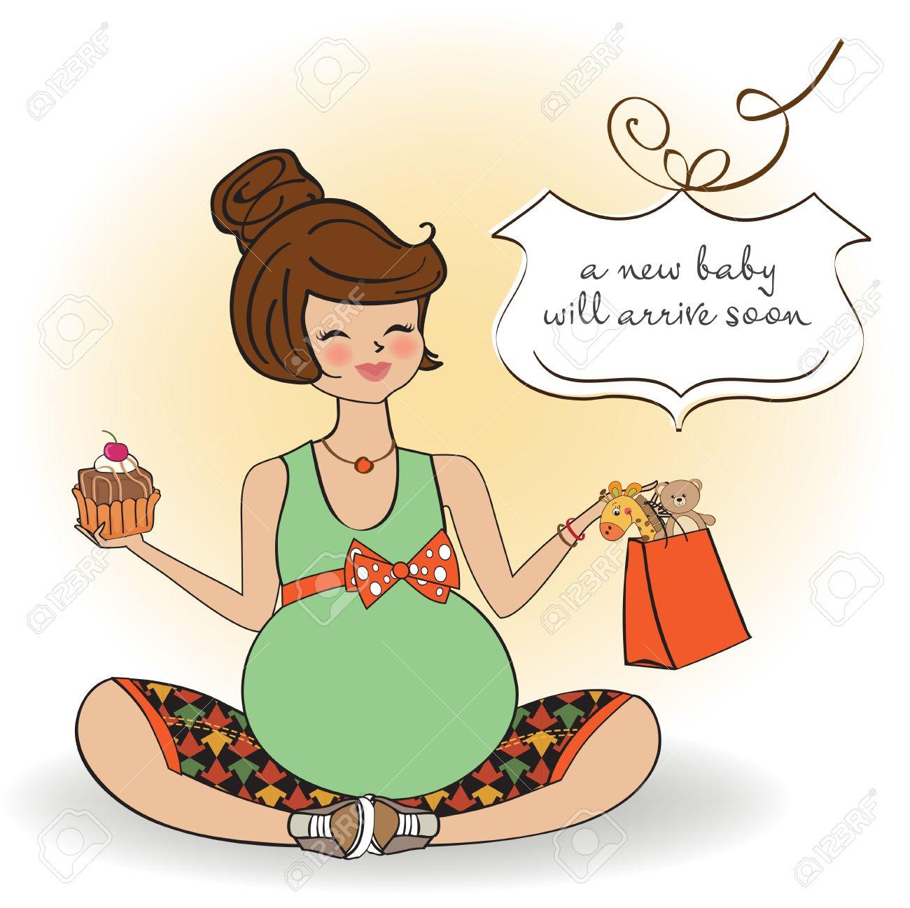 Beautiful pregnant woman Stock Vector - 12786280
