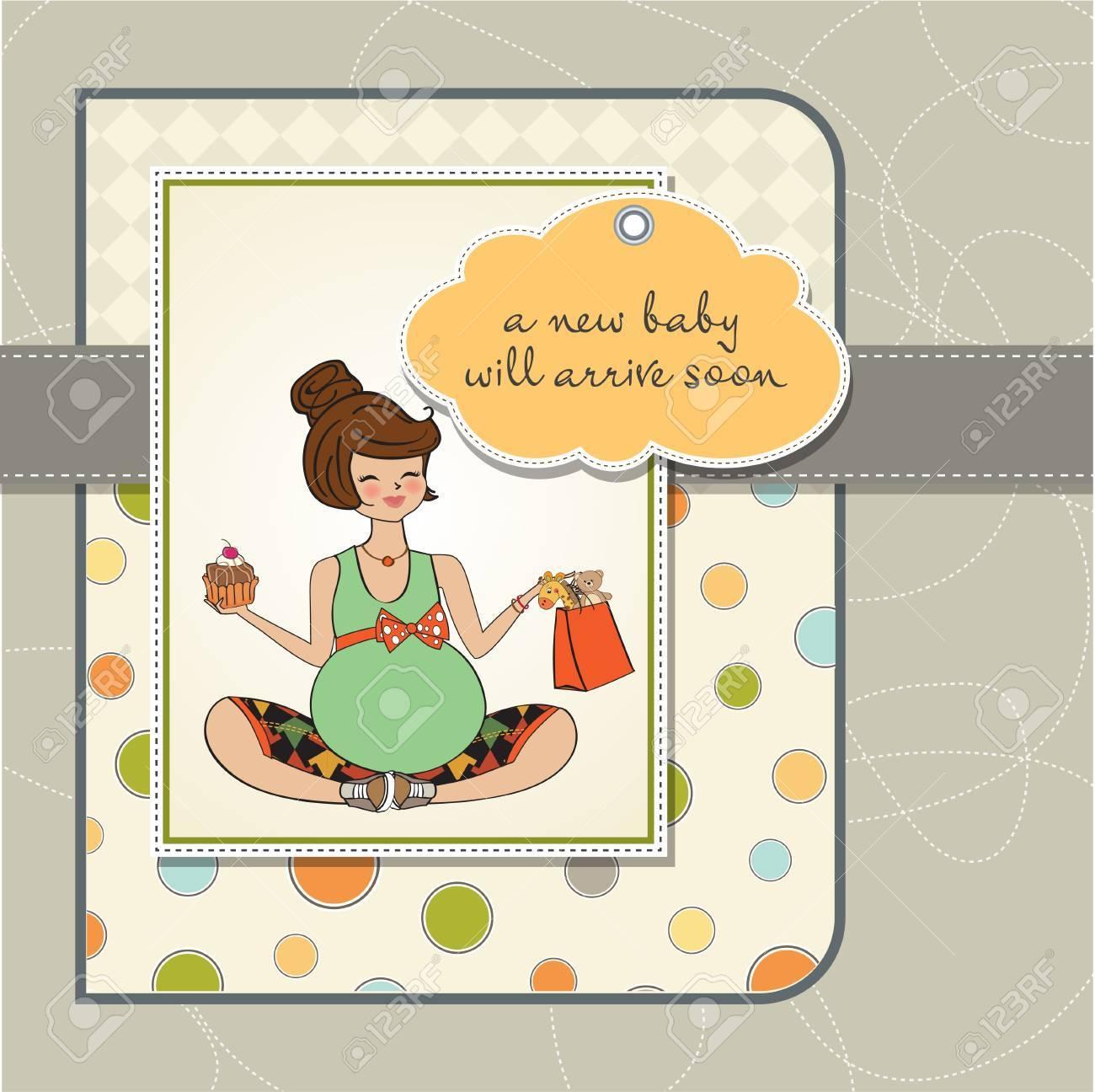 Beautiful pregnant woman Stock Vector - 12786192