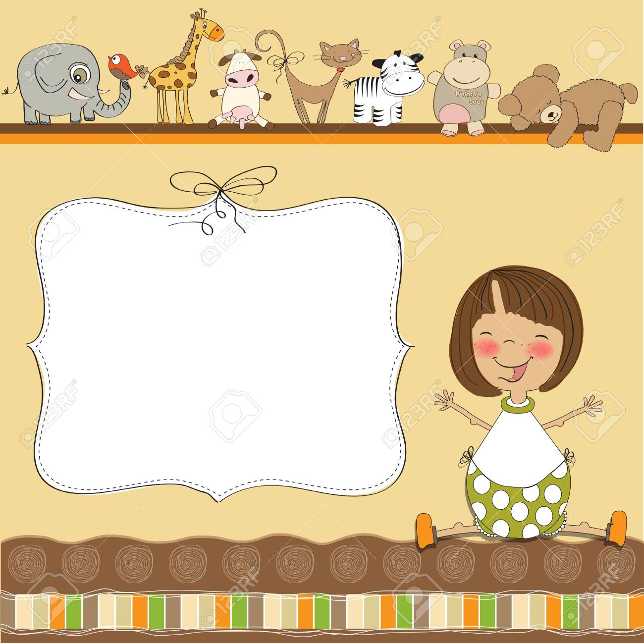 baby shower card Stock Vector - 12816229