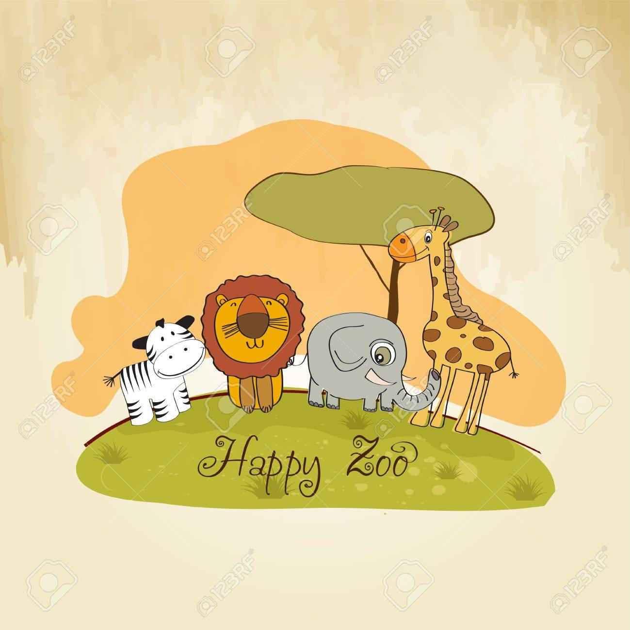 happy zoo Stock Vector - 13423246
