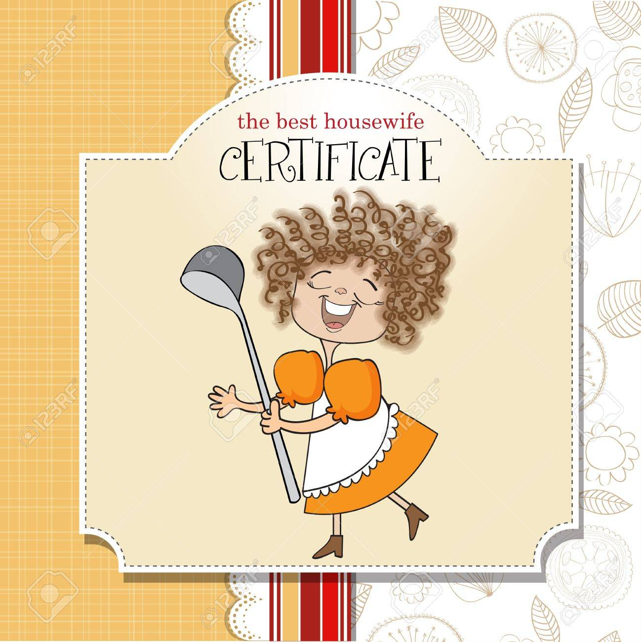 the best wifehouse certificate Stock Vector - 13423265