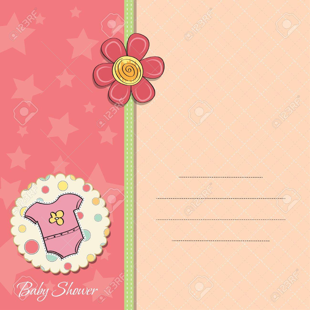 new baby girl announcement card - 14169129