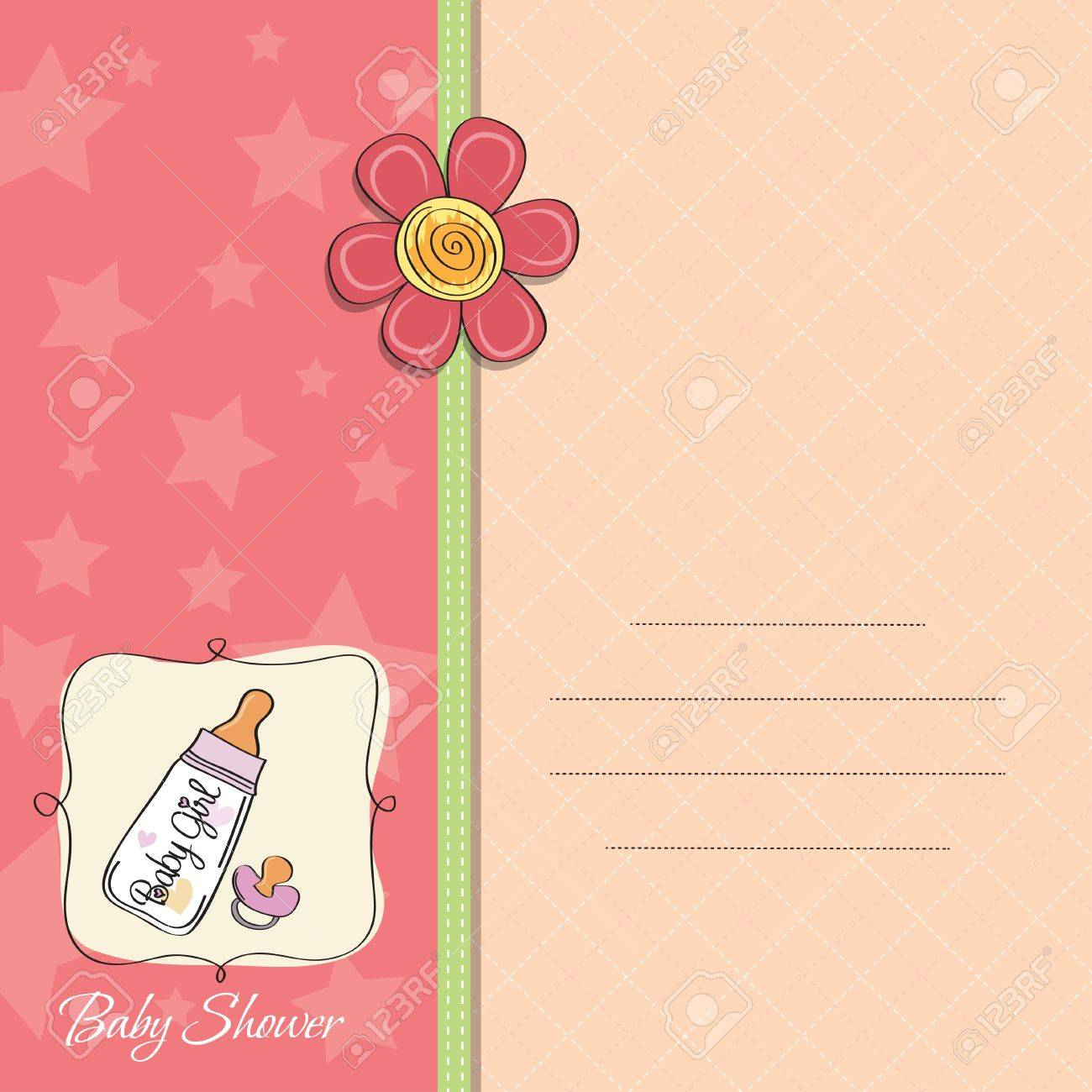 new baby girl announcement card royalty free cliparts vectors and