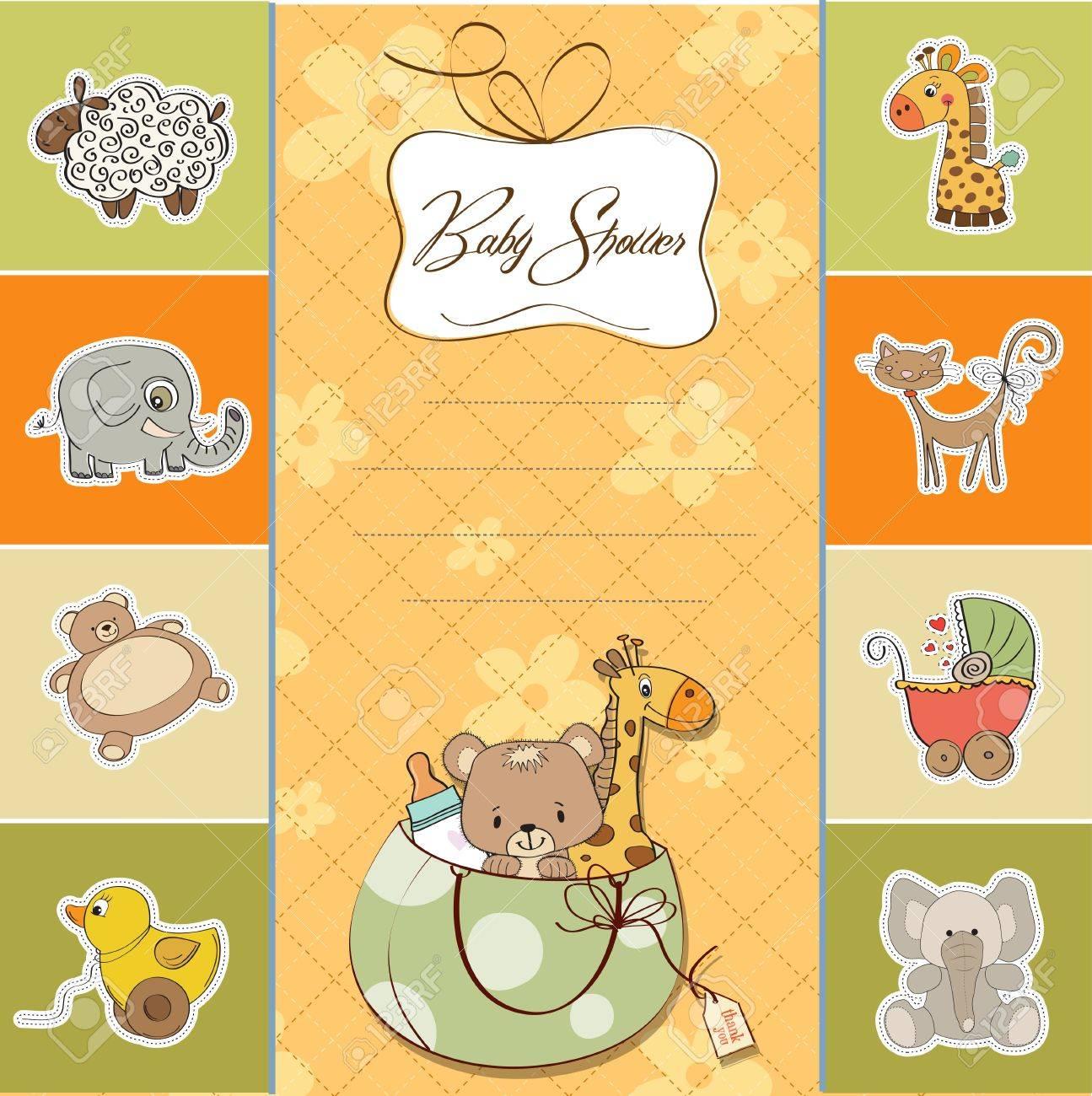 baby shower card - 14285716