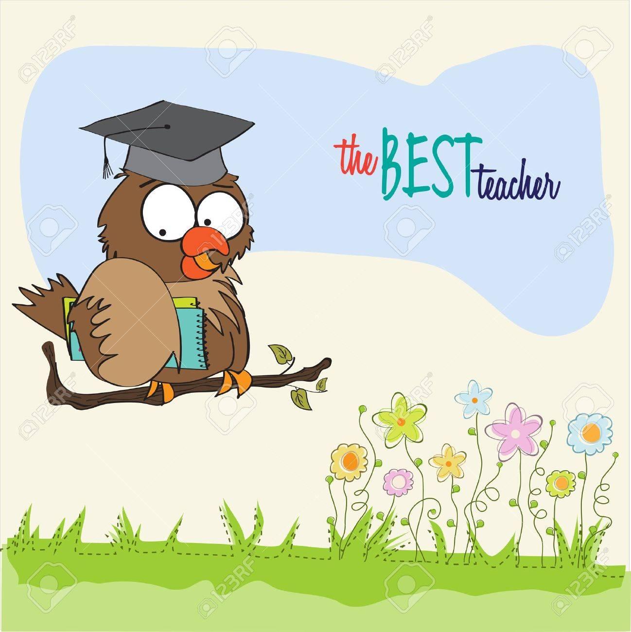 Owl Teacher Stock Vector - 14840793