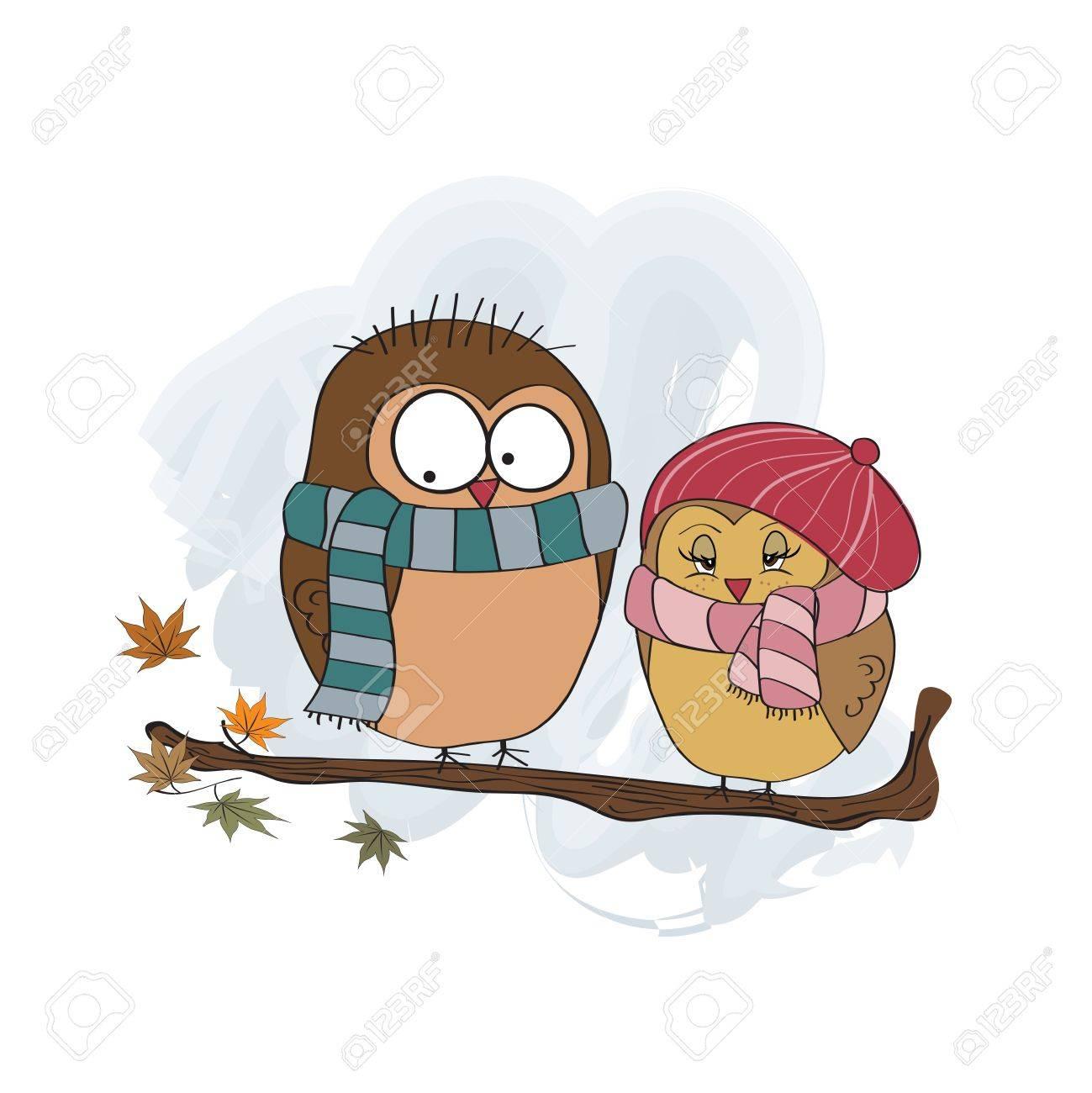 Love birds on the branch Stock Vector - 16125938