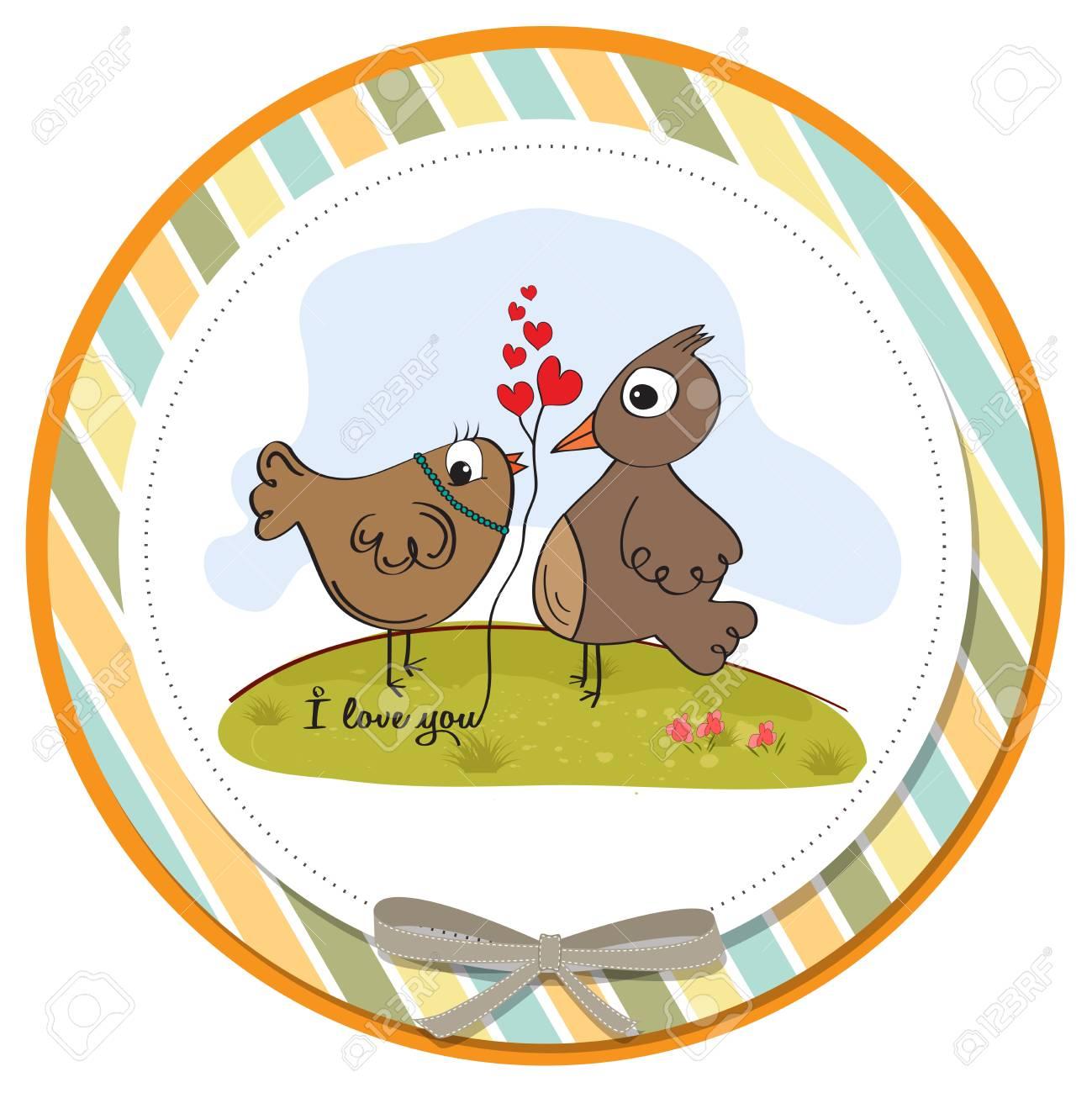love birds, romantic illustration Stock Vector - 17671744