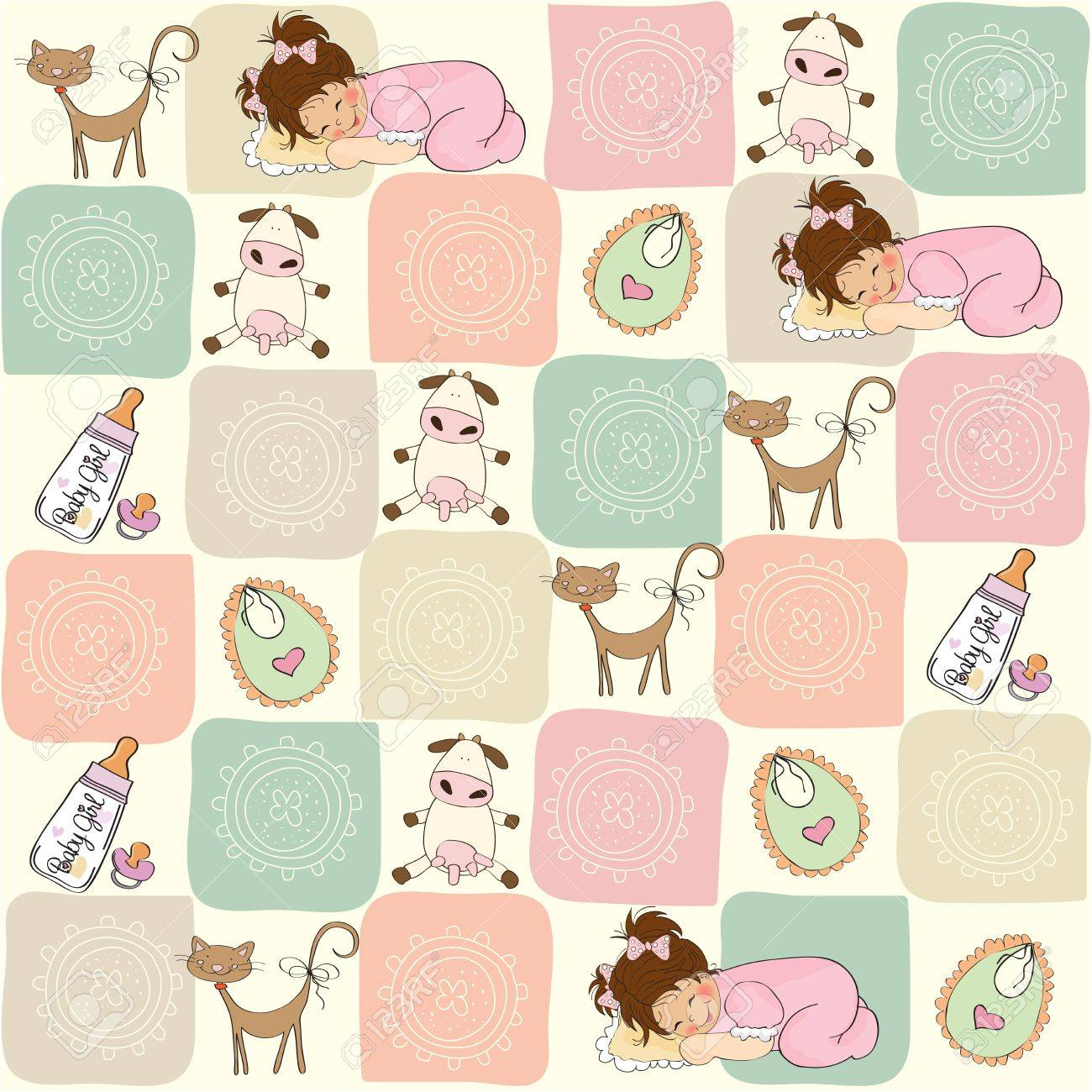 childish seamless pattern with toys Stock Vector - 17671920