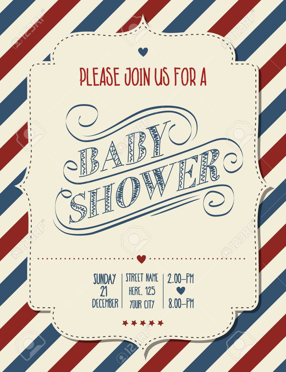 Baby shower invitation in retro style vector format royalty free baby shower invitation in retro style vector format stock vector 40933282 stopboris