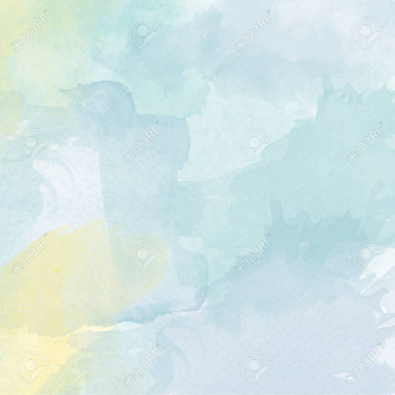 abstract vector hand drawn watercolor background colourful template
