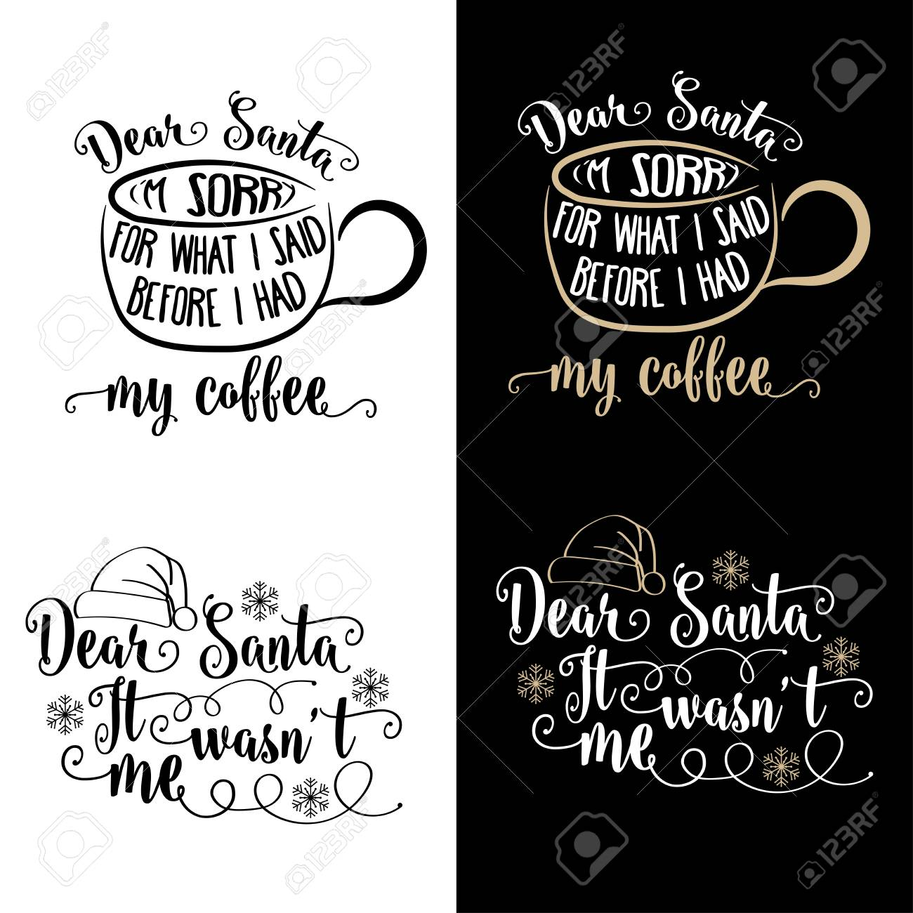 Funny Christmas Quotes Collection Christmas Poster Banner Royalty Free Cliparts Vectors And Stock Illustration Image 121667267