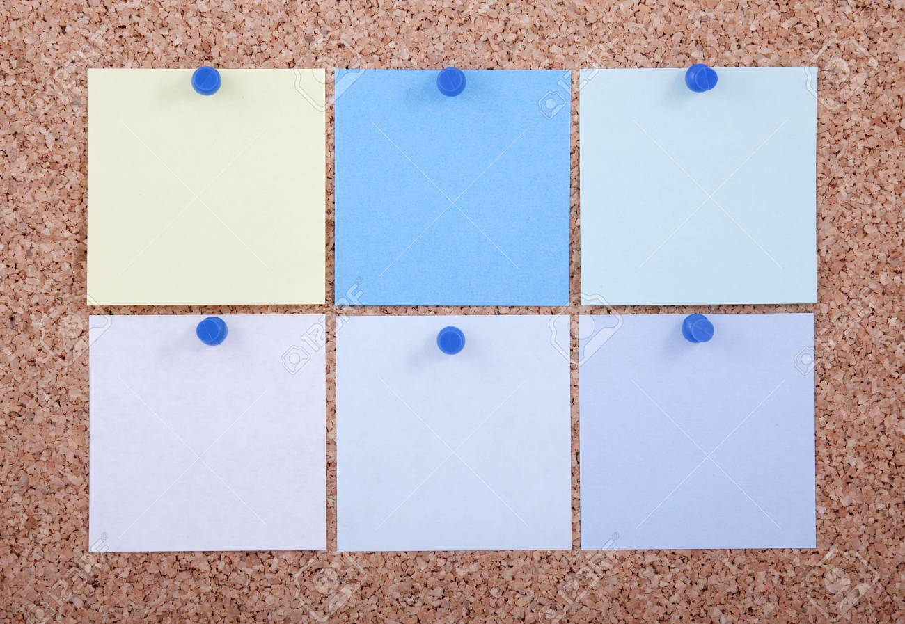 Color paper on cork board isolated for text and background Stock Photo - 8024339