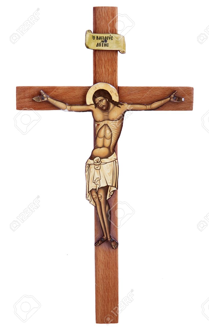 wooden cross with christ stock photo picture and royalty free