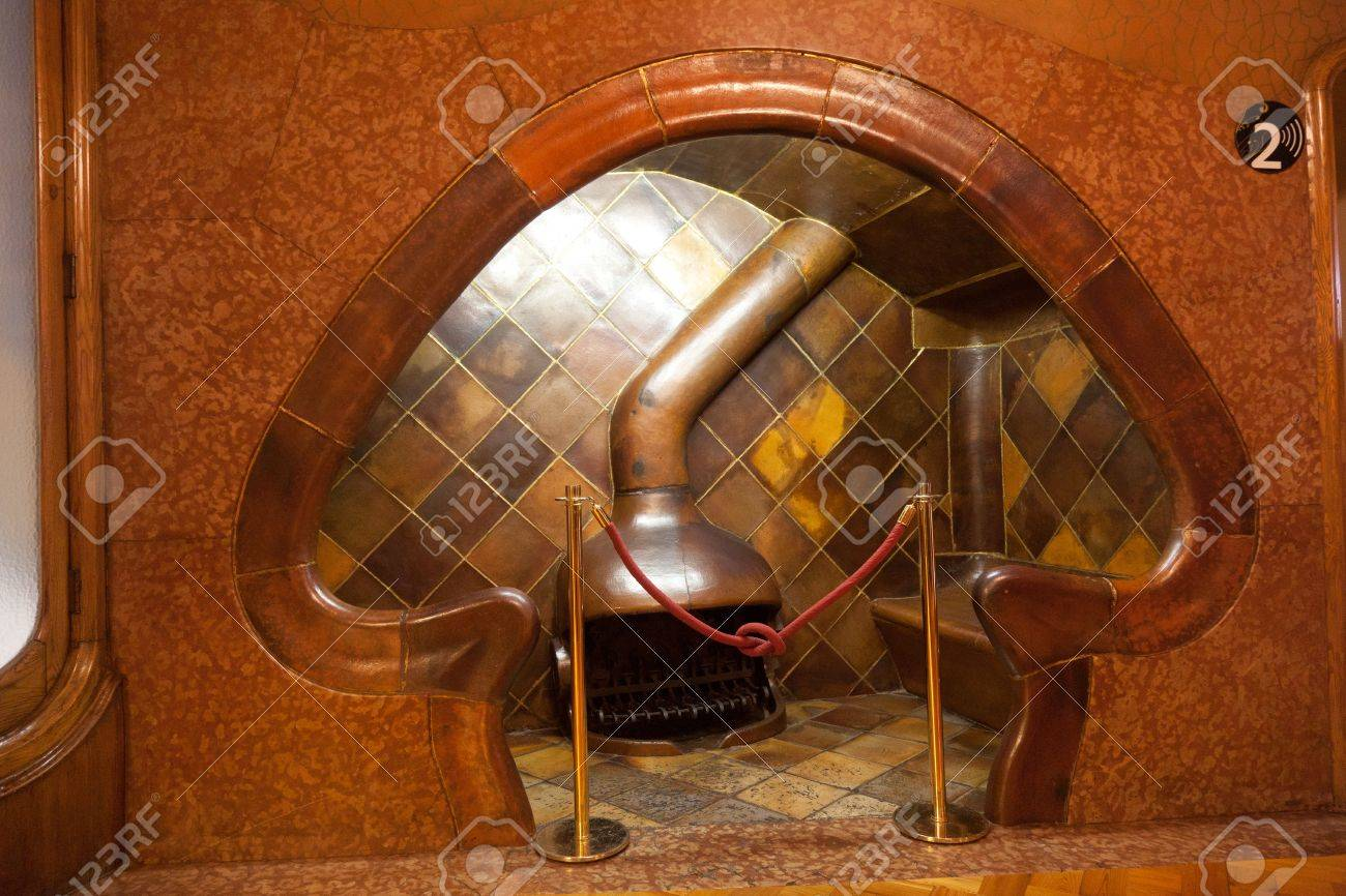 """BARCELONA-APRIL 14: Details from Casa Batllo, restored by Antoni Gaudi and Josep Maria Jujol, built in the year 1877 and remodelled in the years 1904-€""""1906. Photo on April 14,2012 in Barcelona,Spain Stock Photo - 13337818"""