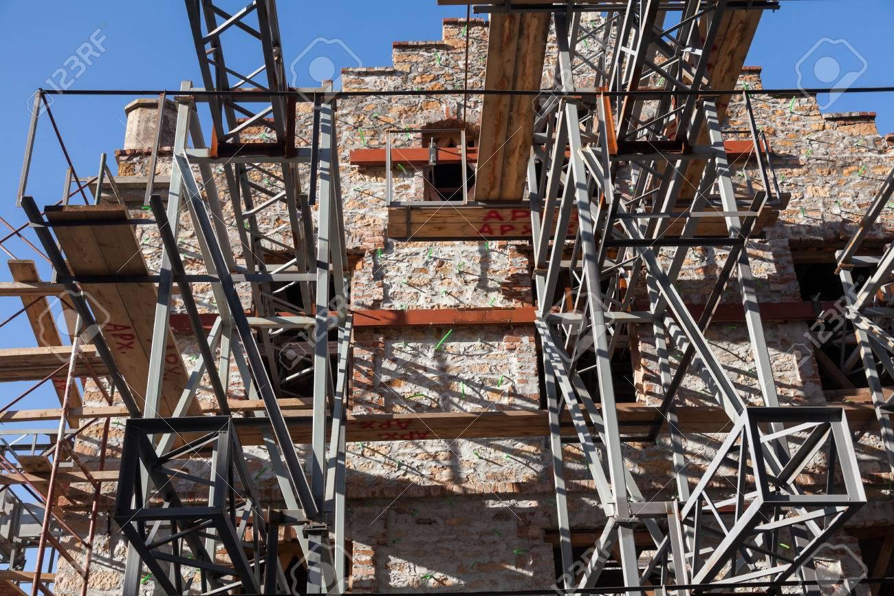 La Ragione Del Restauro.Immagini Stock Restauro Di Un Antico Palazzo Situato Nel Centro Di