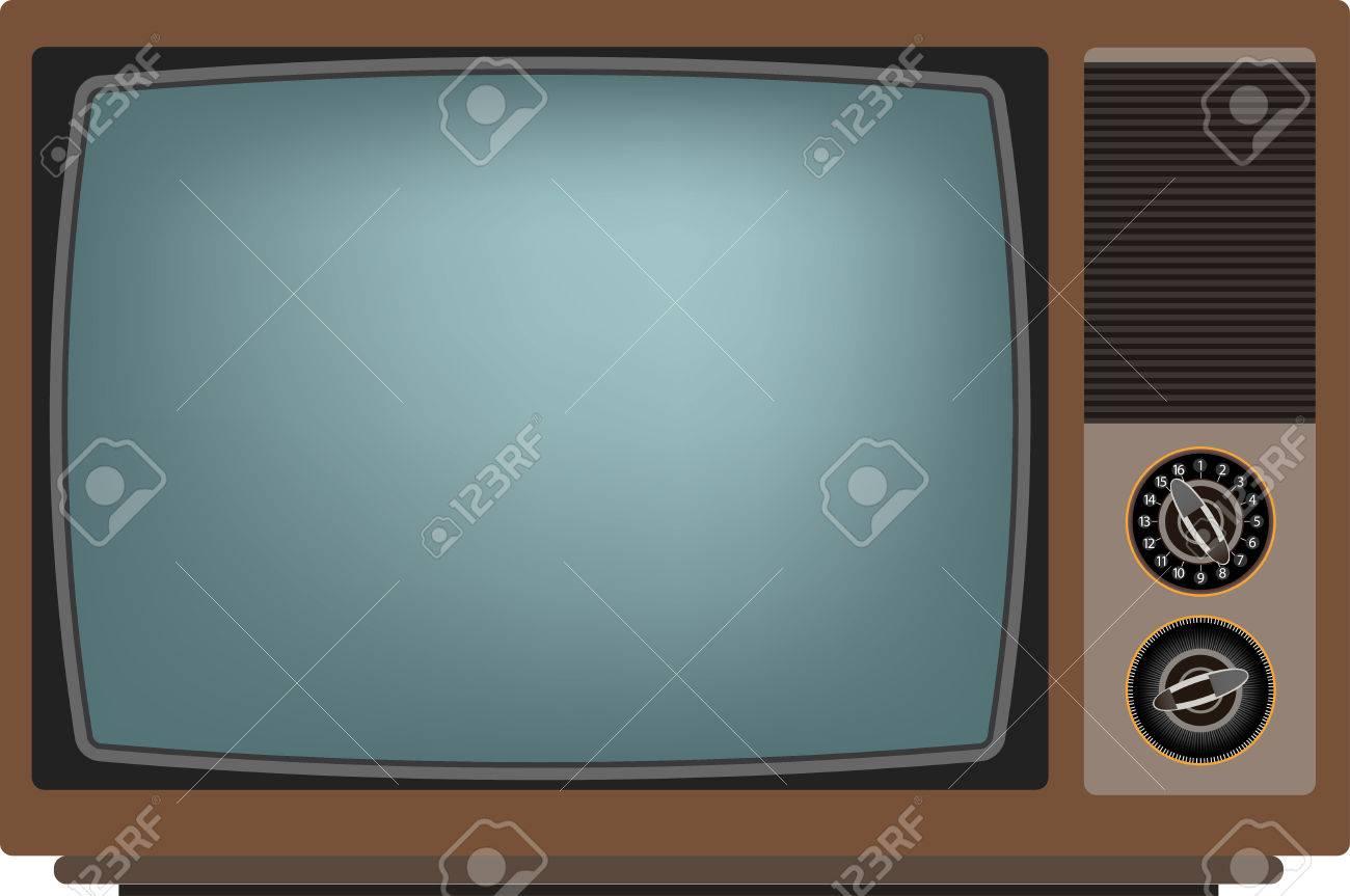 Old TV screen. Vector illustration Eps 10 - 34269721