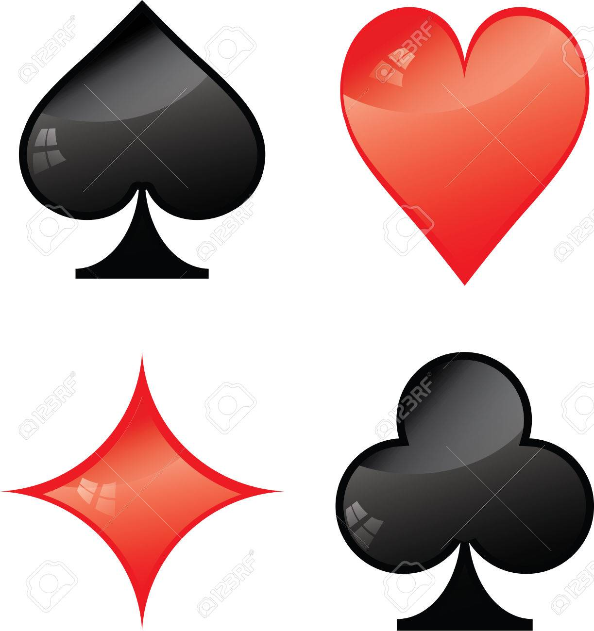 Vector Symbols Of Playing Cards Illustrator Eps 10 Royalty Free