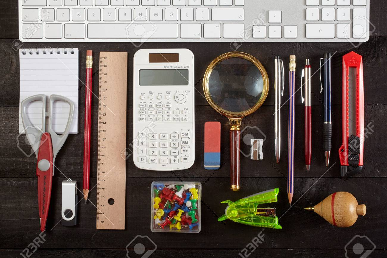 Office table stock image. Image of information, devices 74667647.