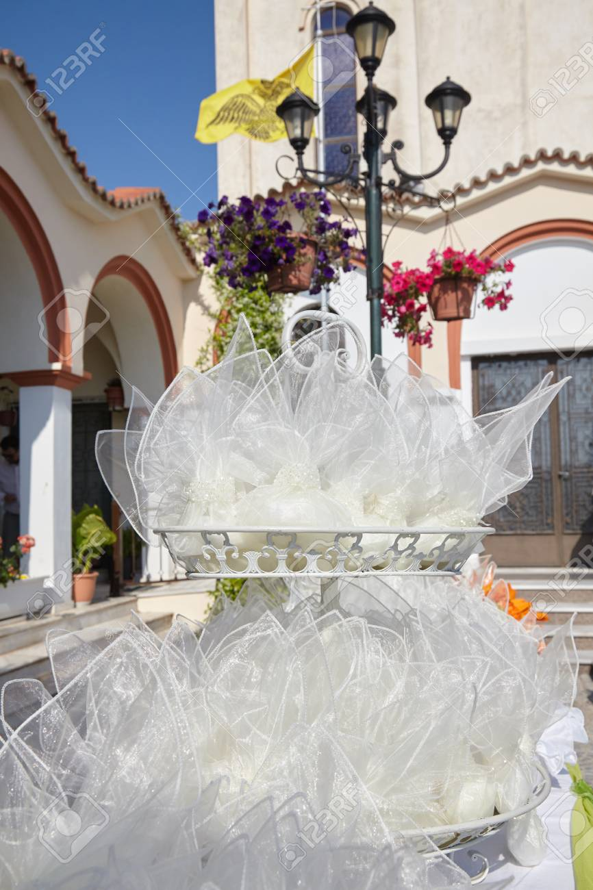 Outdoor Wedding Decoration Of Orthodox Church Stock Photo, Picture ...