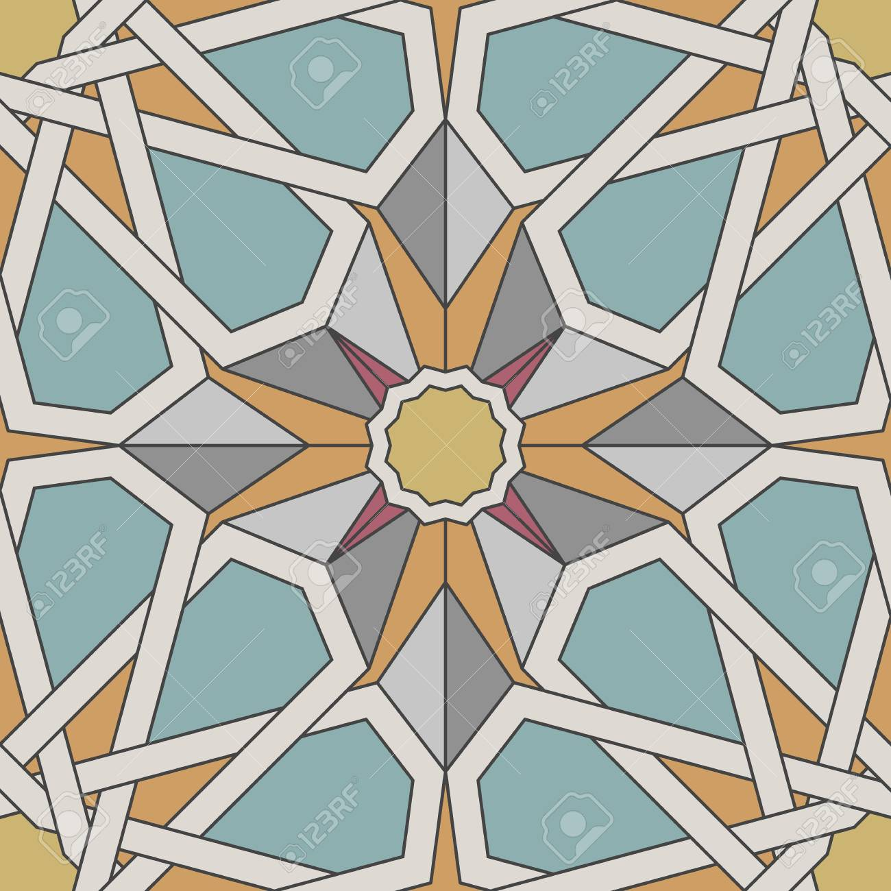arabesque seamless pattern in moroccan style tile islamic traditional