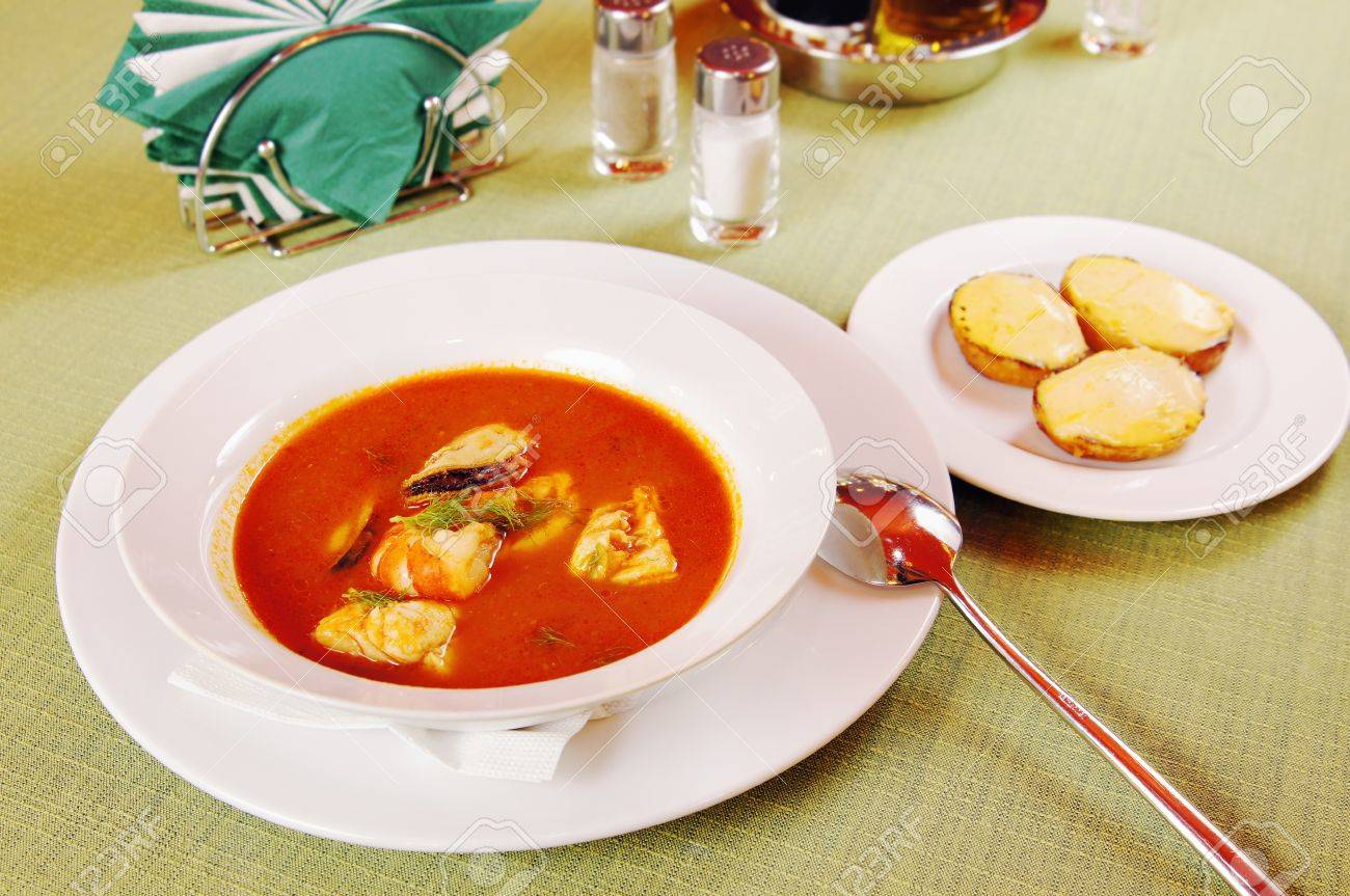 Bouillabaisse Soup with seafoods Stock Photo - 15716995