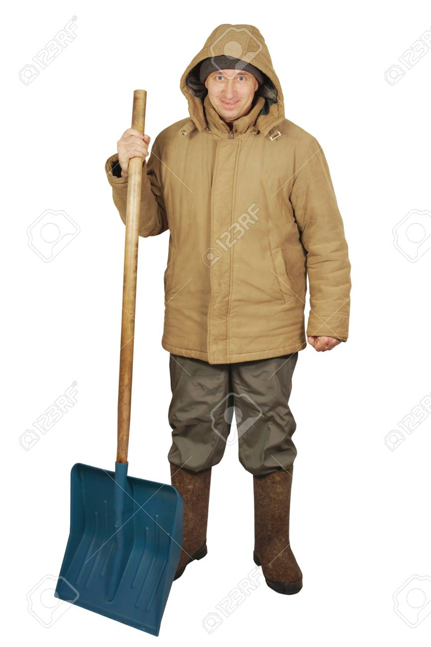Street cleaner with a big spade Stock Photo - 17362027