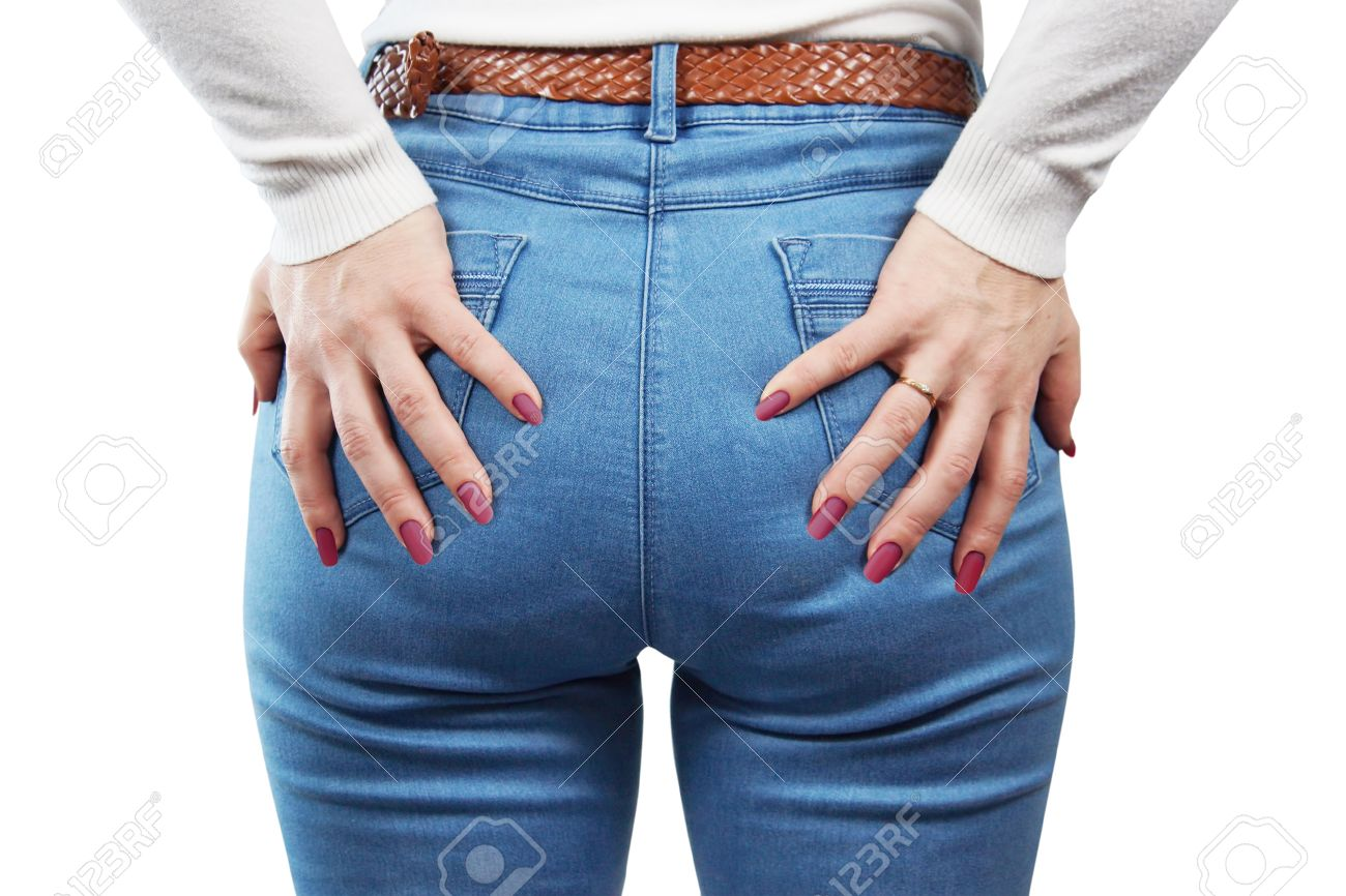 Female Ass In Blue Jeans Stock Photo, Picture And Royalty Free ...