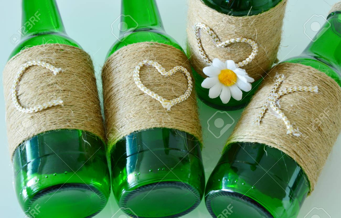 Cook Craft Ideas Using Waste Glass Bottles Stock Photo Picture