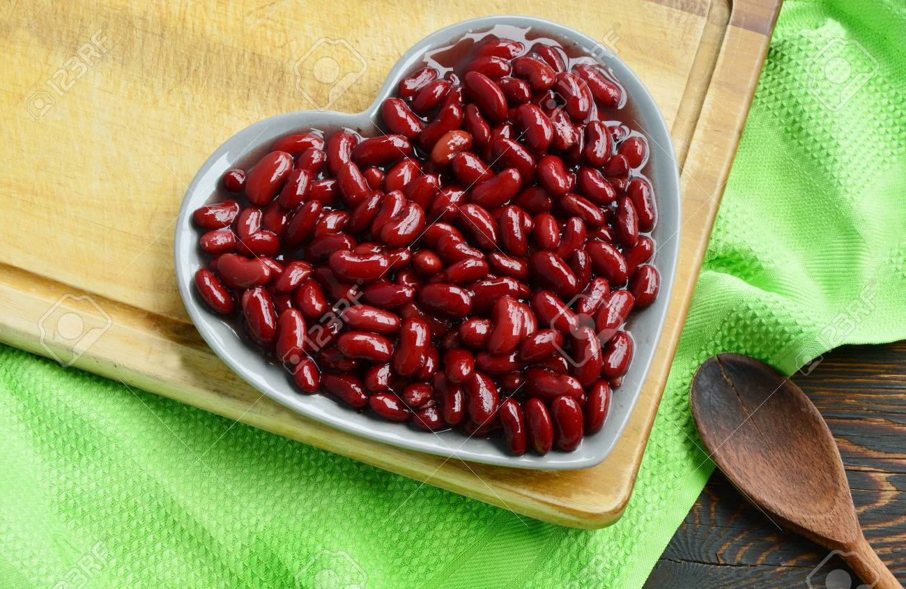 Healthy Benefits Of Red Beans Red Beans In Shape Heart Dish Stock Photo Picture And Royalty Free Image Image 66132304