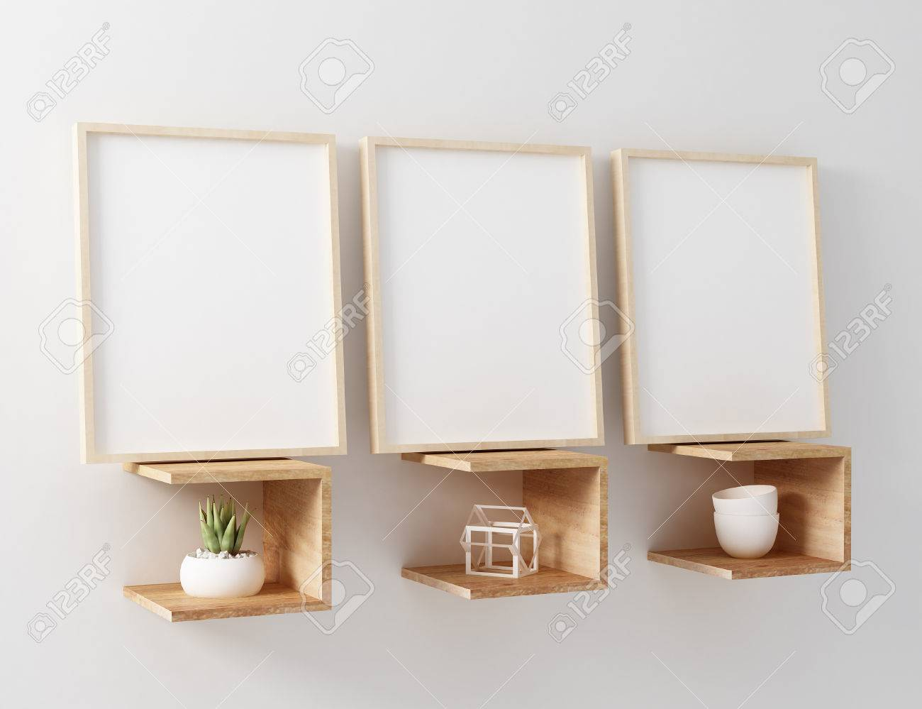 3 blank frame mockup stock photo picture and royalty free image