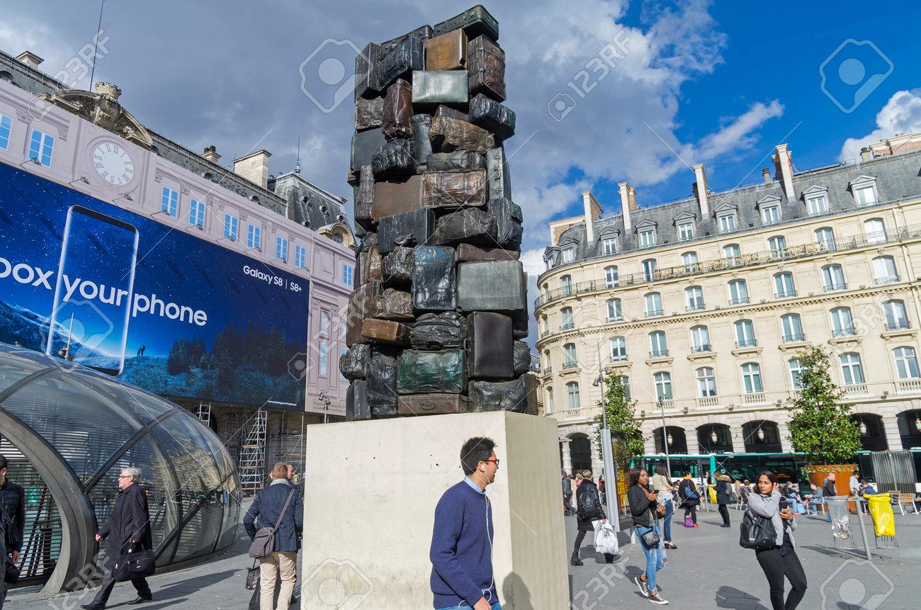 Paris Francia 1 De Abril De 2017 Un Trabajo Del Arte Moderno