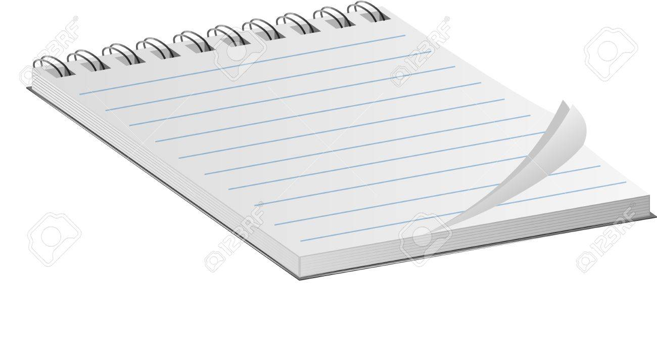 Notebook with a spring on white Stock Vector - 18960775